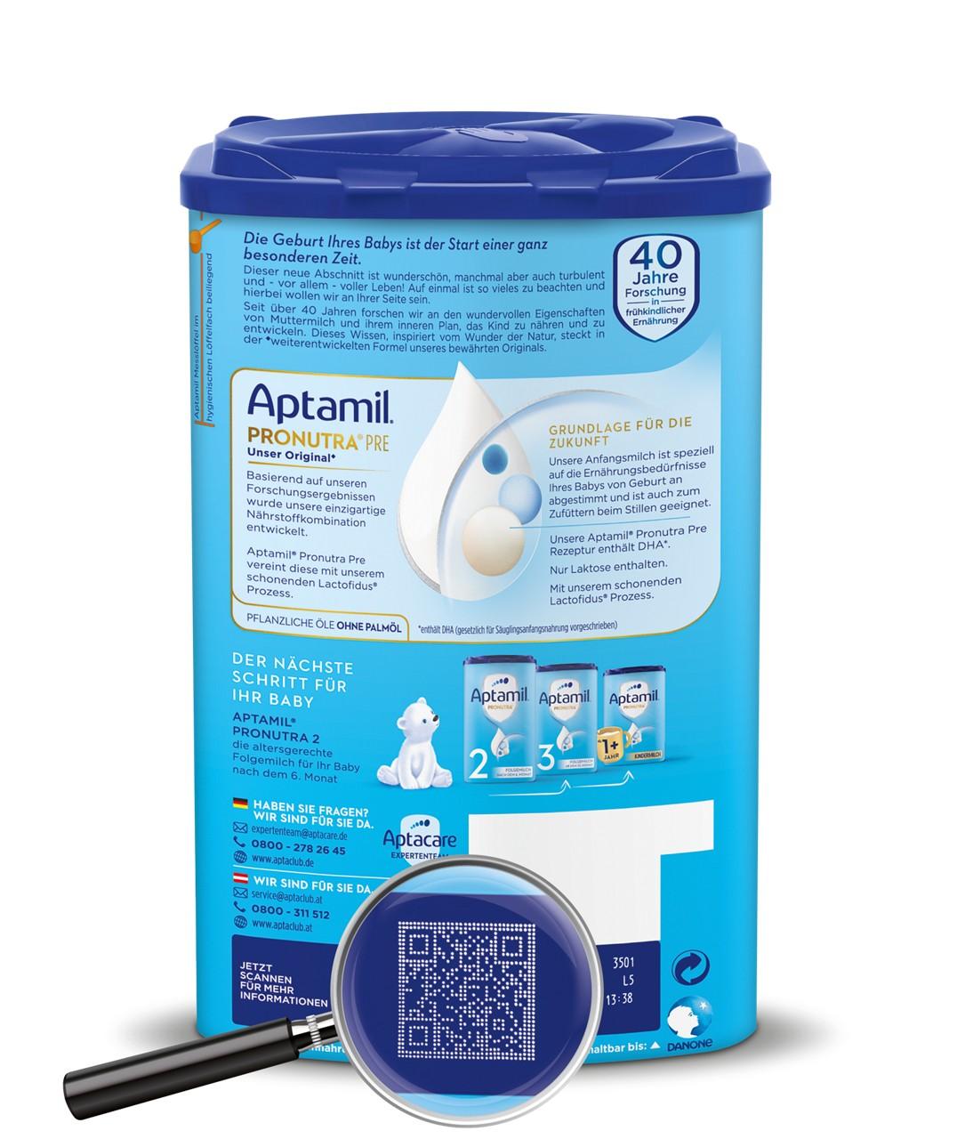 Aptamil EZP BOP ROLEX Code Lupe PRE