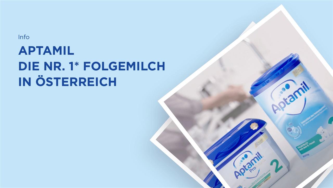 Aptamil die Nr.1 Folgemilch in Österreich
