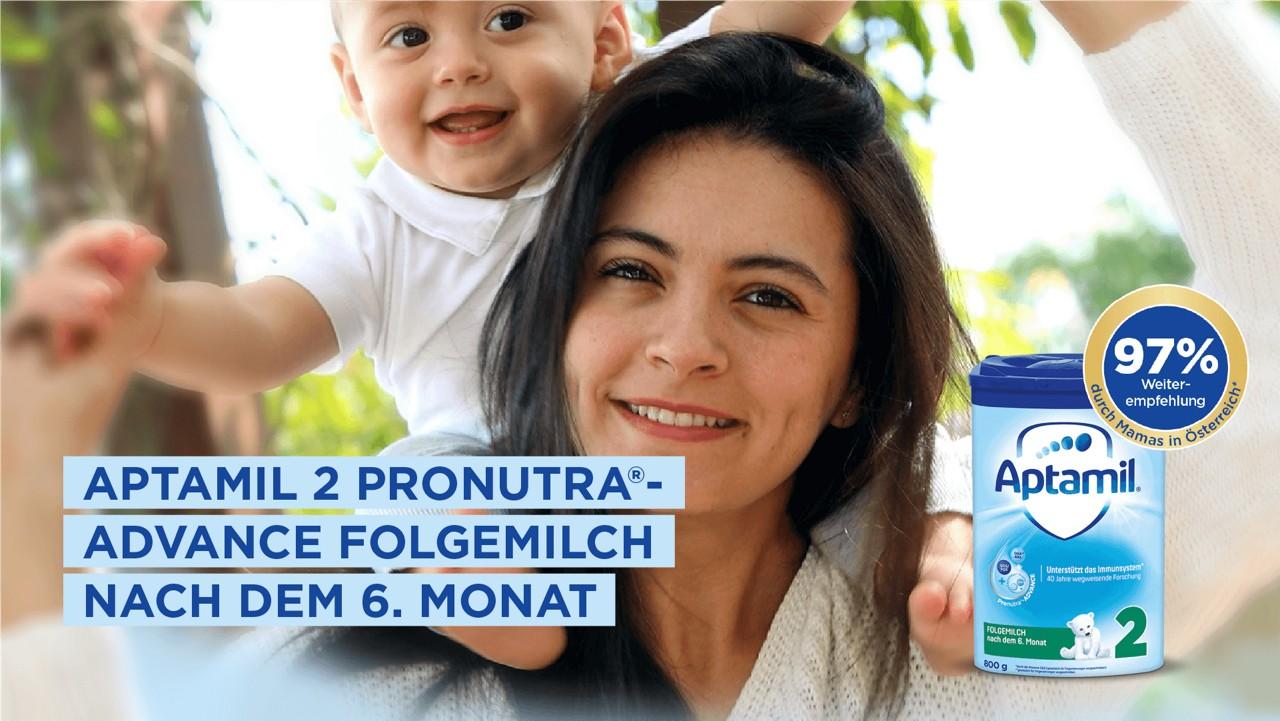 97% Weiterempfehlung: Aptamil 2 Pronutra Folgemilch