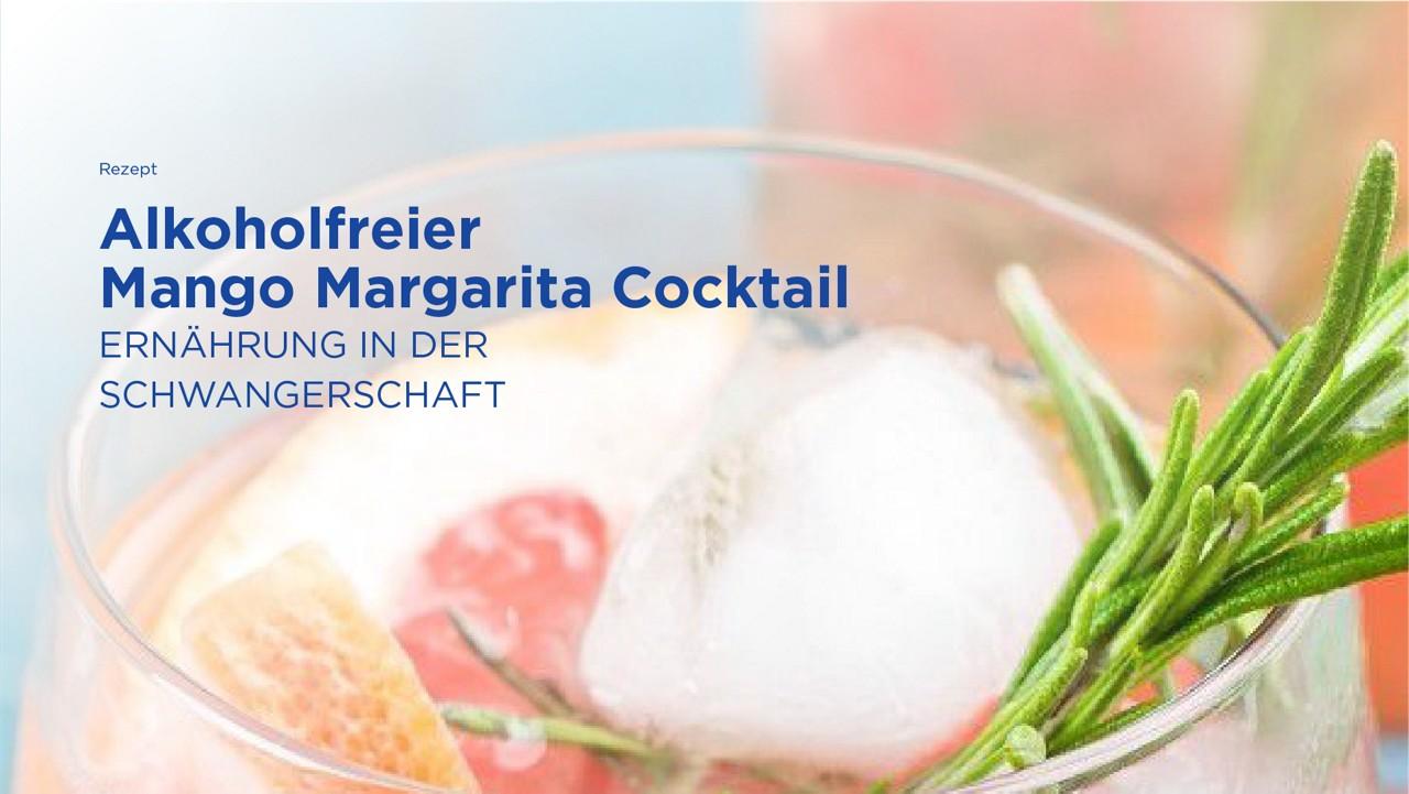 Alkoholfreier Mango Margarita Coctail