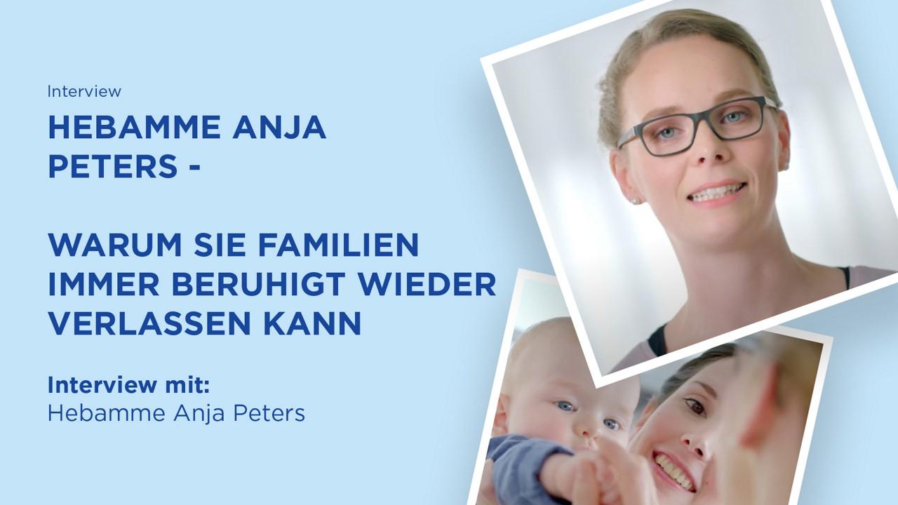 Warum Hebamme Anja Peters Familien immer wieder beruhigt verlassen kann