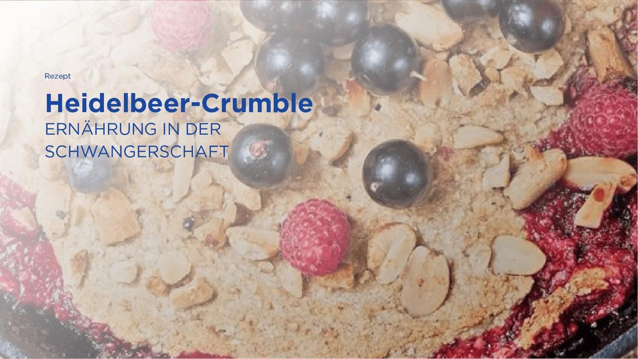 Rezept: Heidelbeer Crumble
