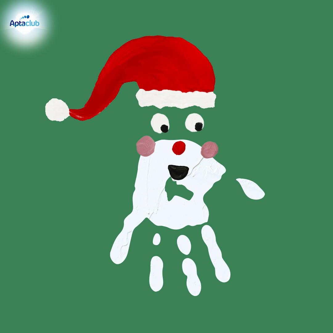 Weihnacktskarte Nikolaus Hand