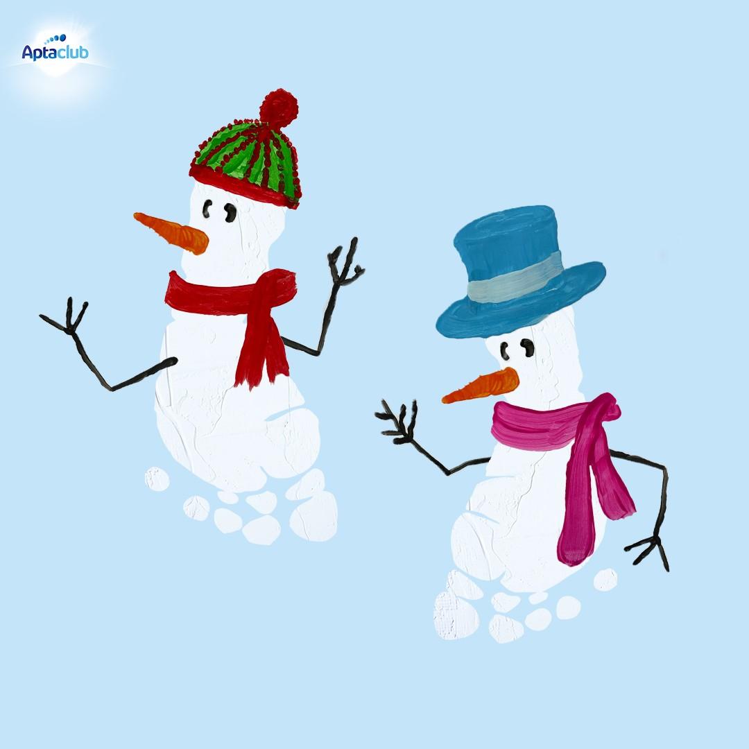 Weihnachtskarten mit Schneemännern