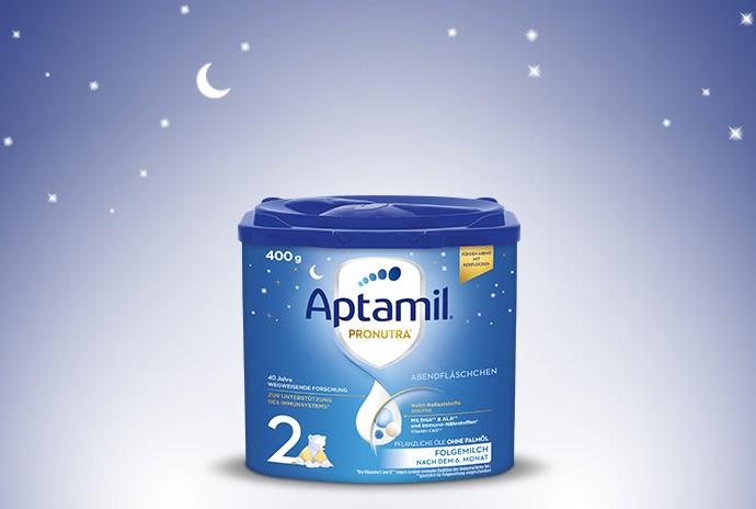 Aptamil Abendfläschchen – ab Herbst in neuem Design