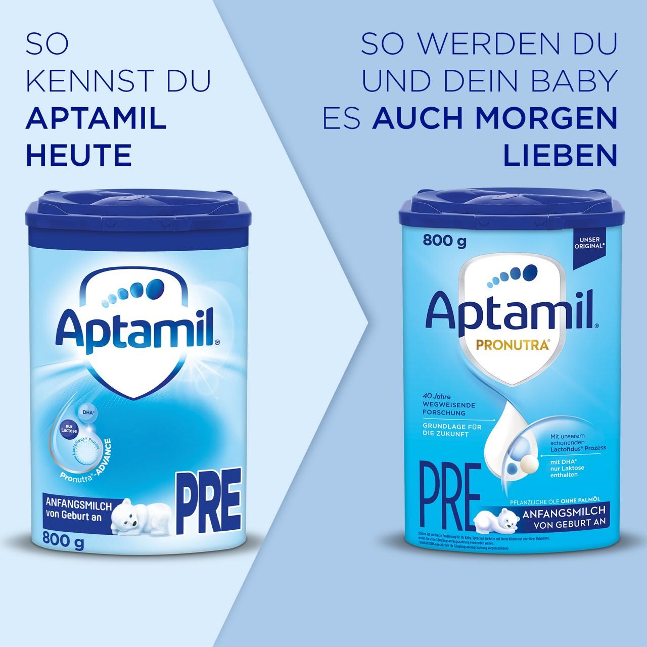 Das neue Aptamil Pronutra mit neuer Rezeptur