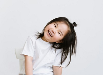 Portrait Of Adorable Chinese Girl