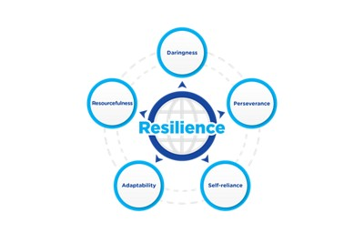 5 core pillars of Resilience graphic chart