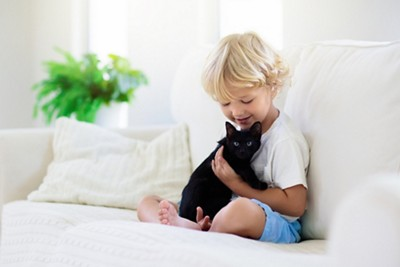 Baby with cat