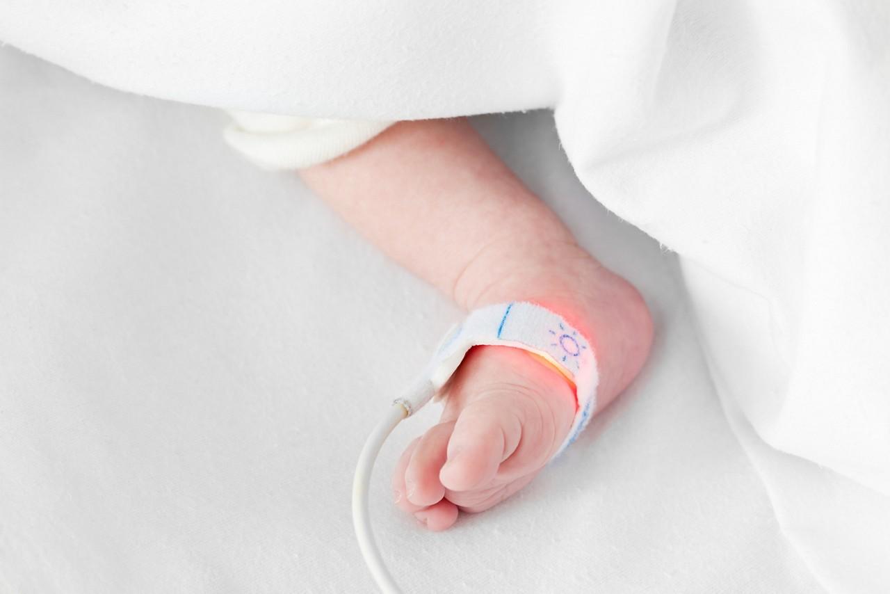 Füßchen eines Neugeborenen