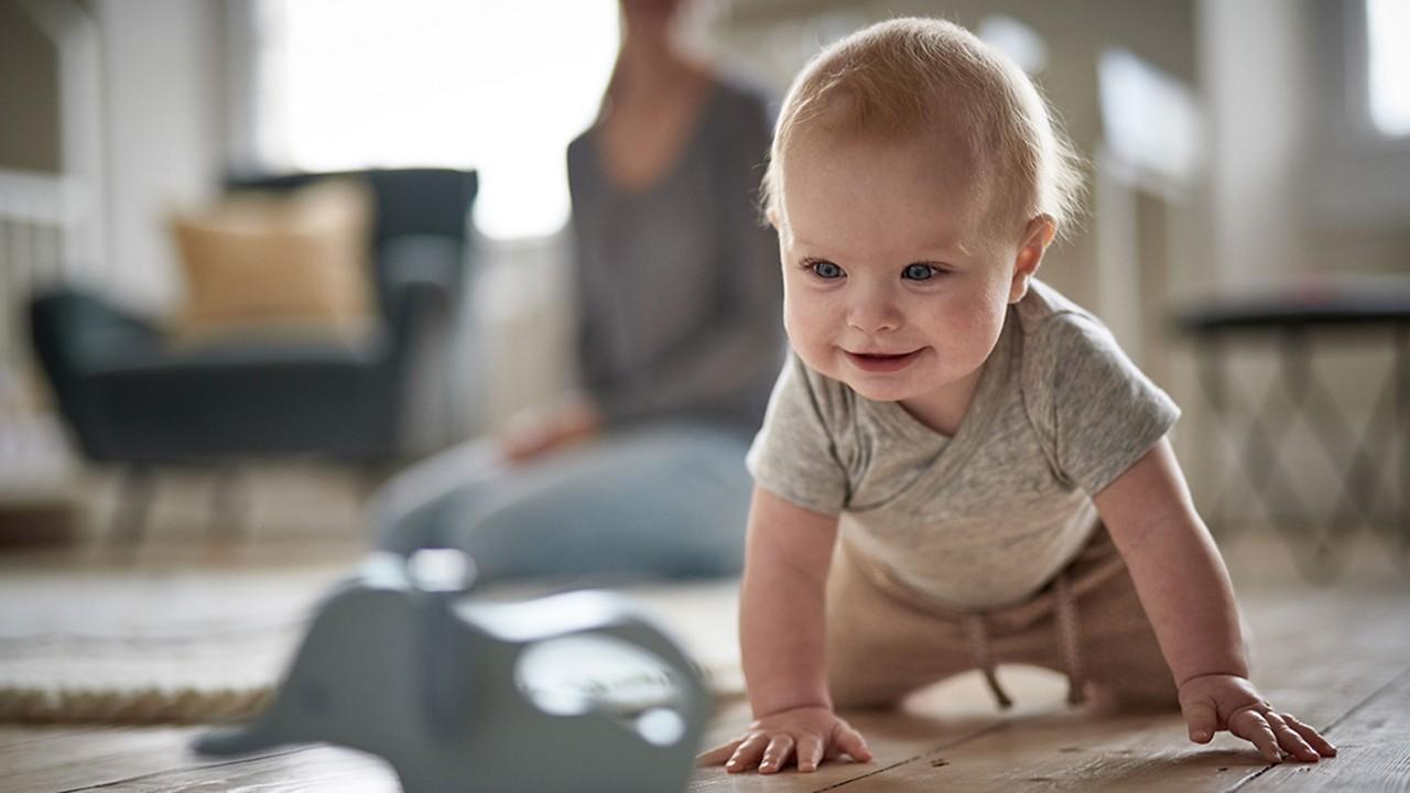 COVID-19 baby crawling