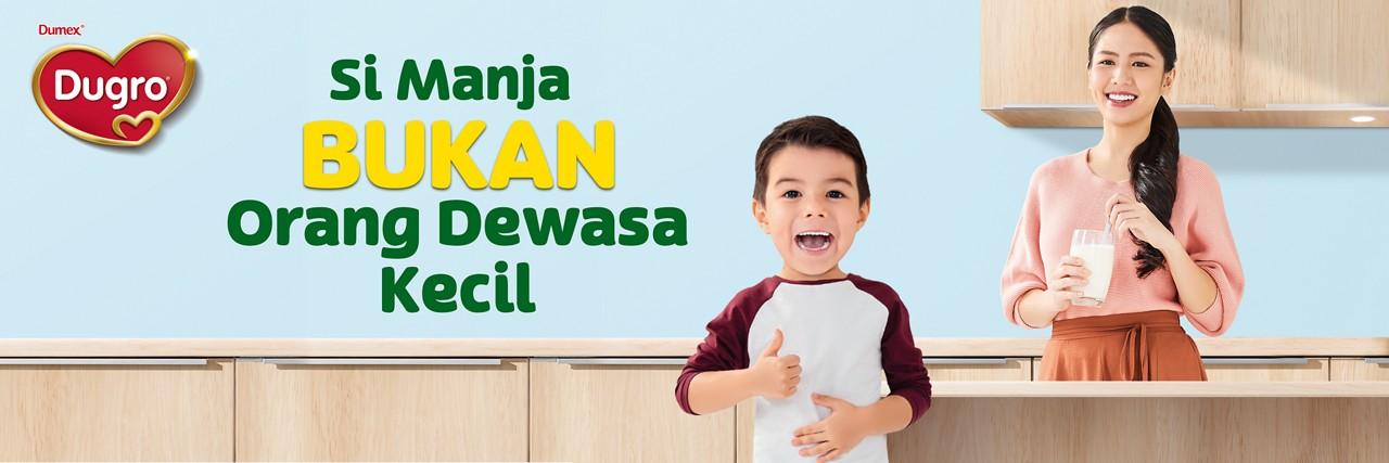 Dugro child not mini adult banner