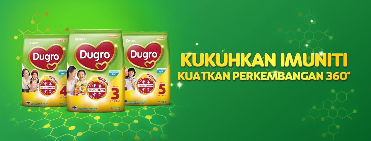 Dugro® NextGen NUTRI Susu Tepung Rumusan Perisa Asli Langkah 3,4,5