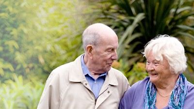 Healthy aging couple