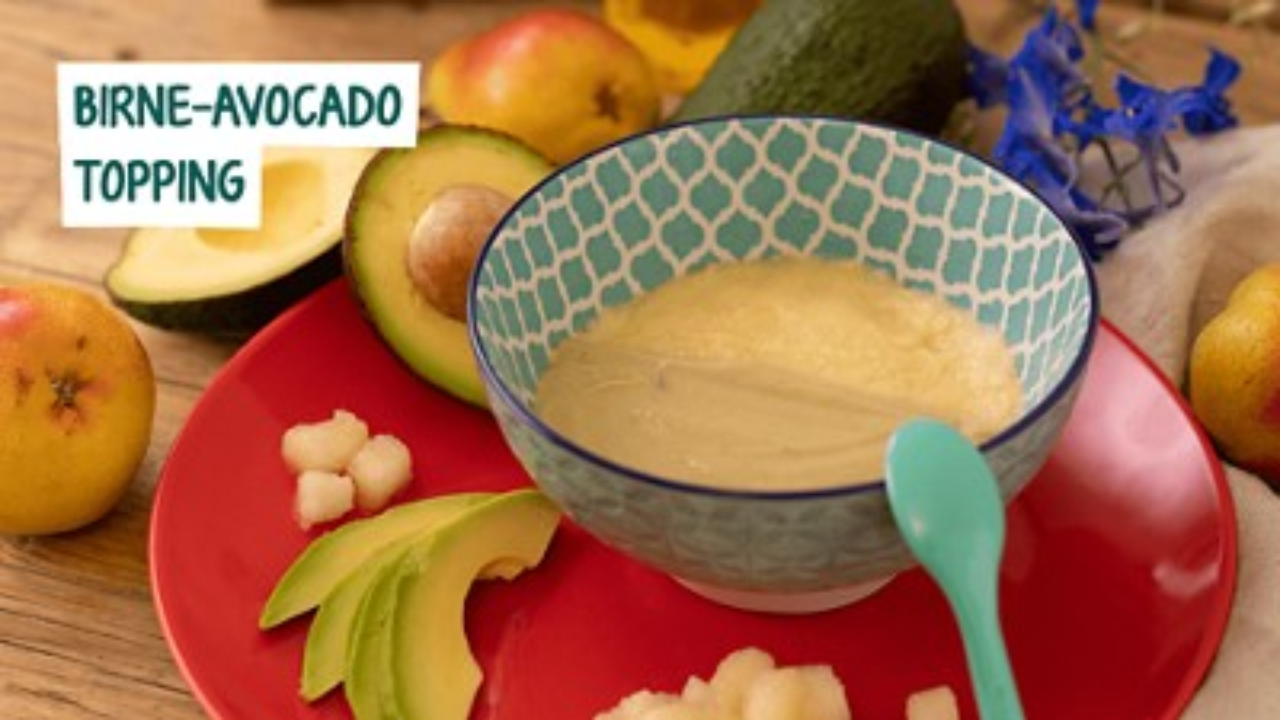 Bild mit Birne-Avocado Topping