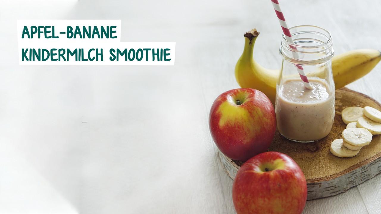 Apfel Banane Kindermilch Smoothie