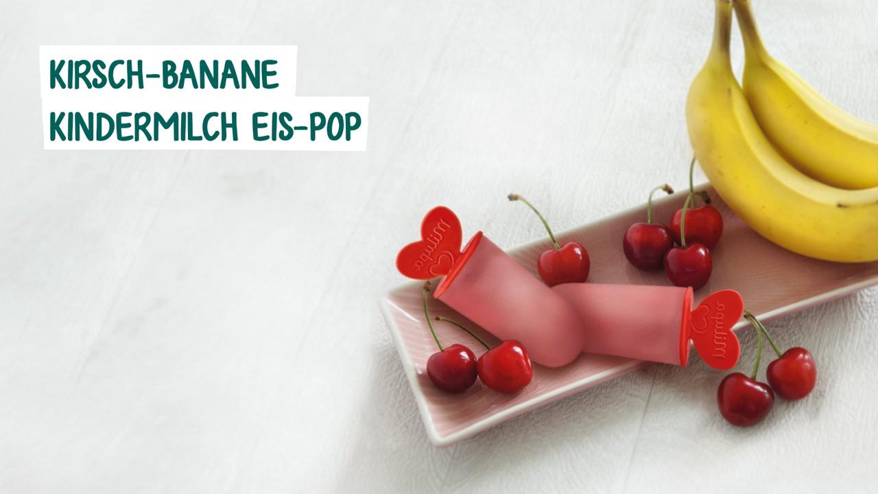 Kirsch Banane Eispop