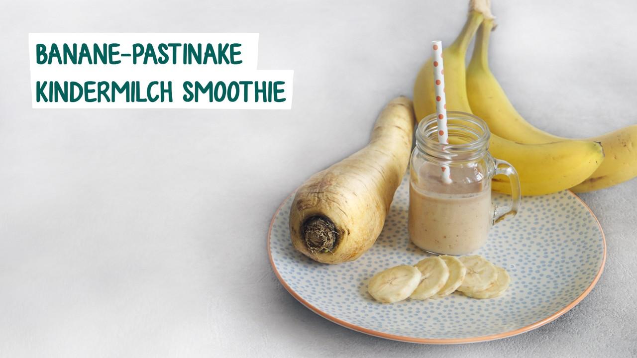 Banane Pastinake Kindermilch Smoothie