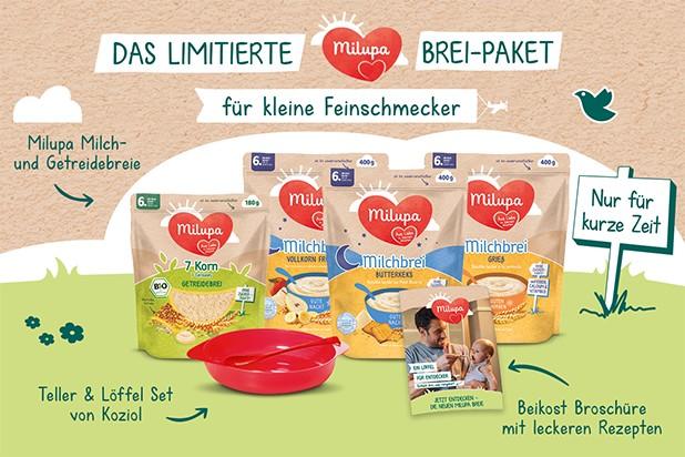 Limitiertes Milupa Brei-Paket mit Breiset