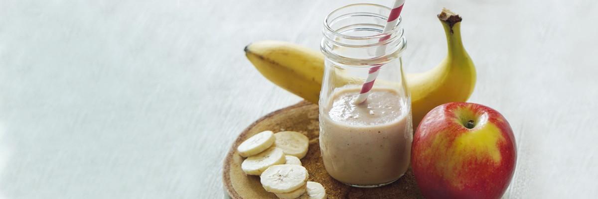 Apfel-Banane-Kindermilch Smoothie