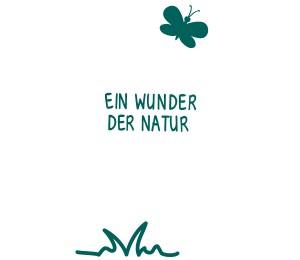 Fahne mit ein Wunder der Natur