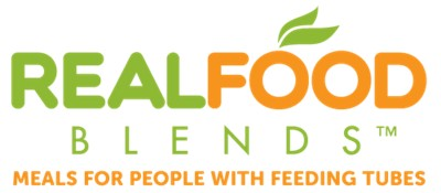 Real Food Blends logo with Tag