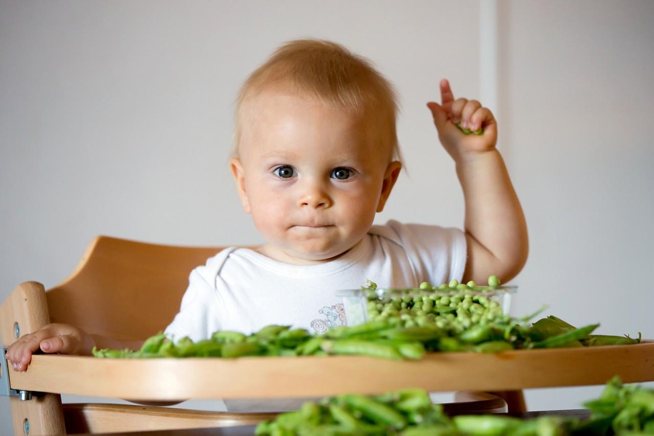 детское питание горошек