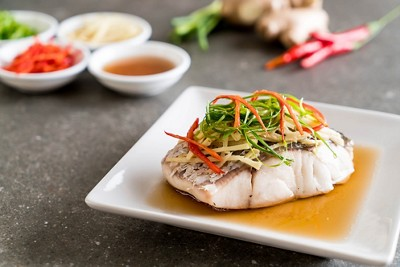 Steamed fish protein