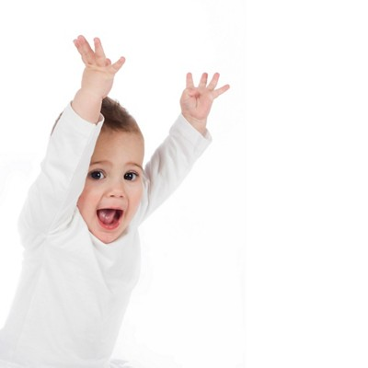 Toddler hands up