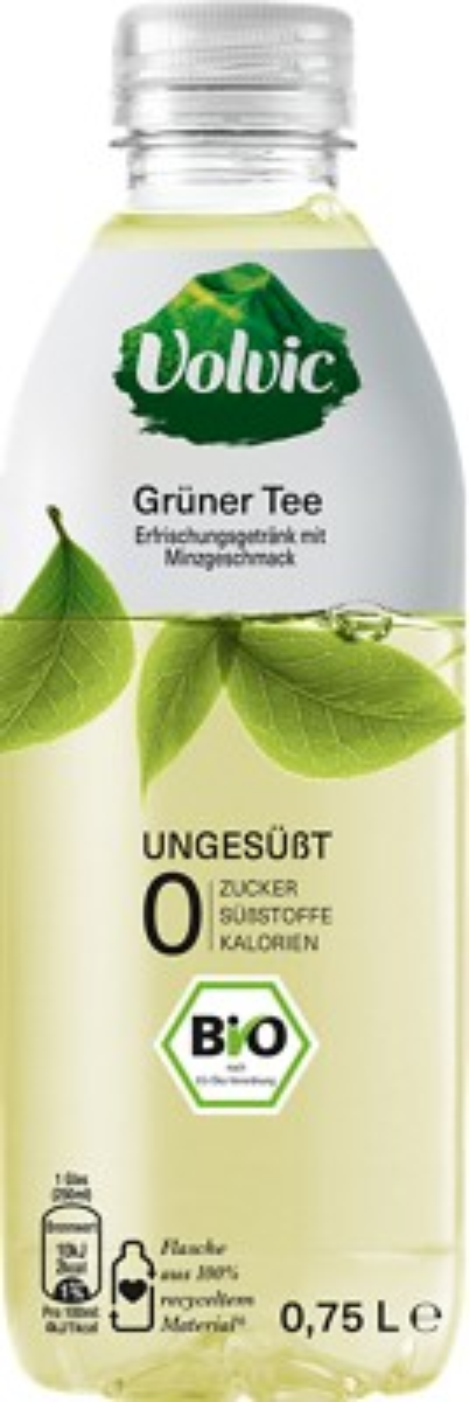 Volvic Bio Grüner Tee mit Minzgeschmack ungesüßt