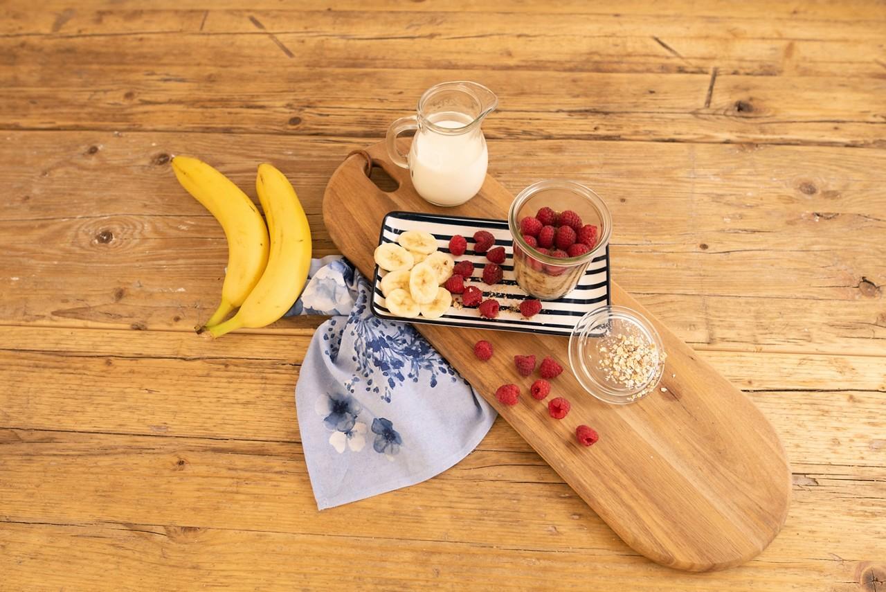 Bananen-Himbeer-Kindermüsli
