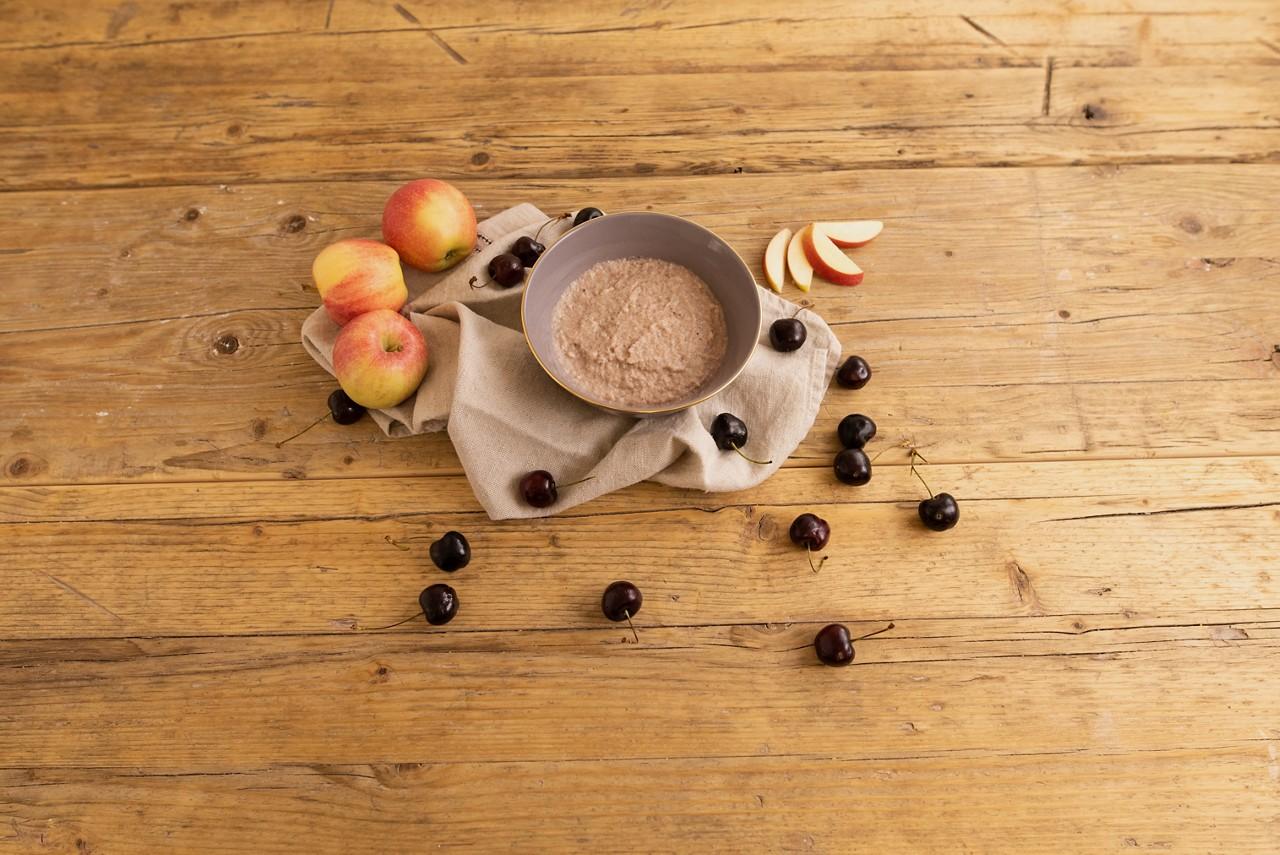 Kirsch-Apfel-Topping