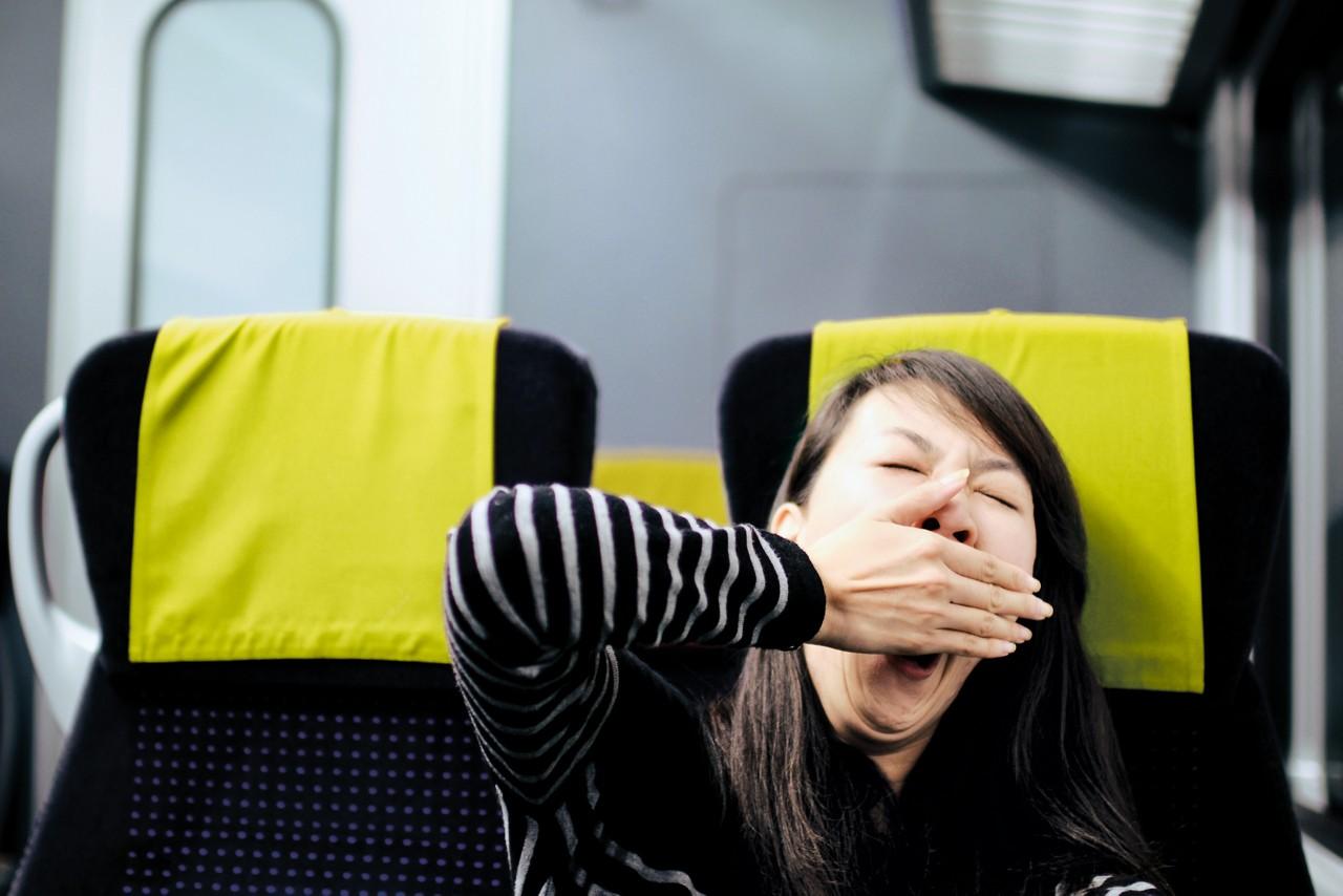 Yawning mum