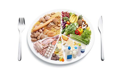 A balanced diet for toddlers banner