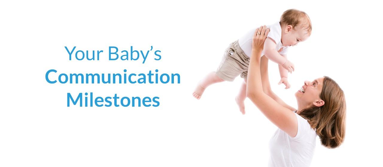 Baby communication milestones masthead