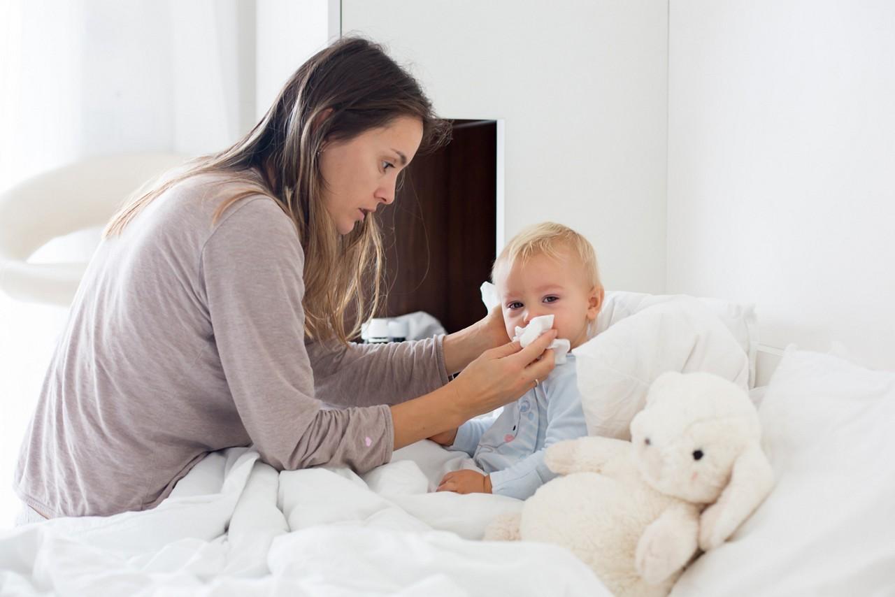 Baby sick