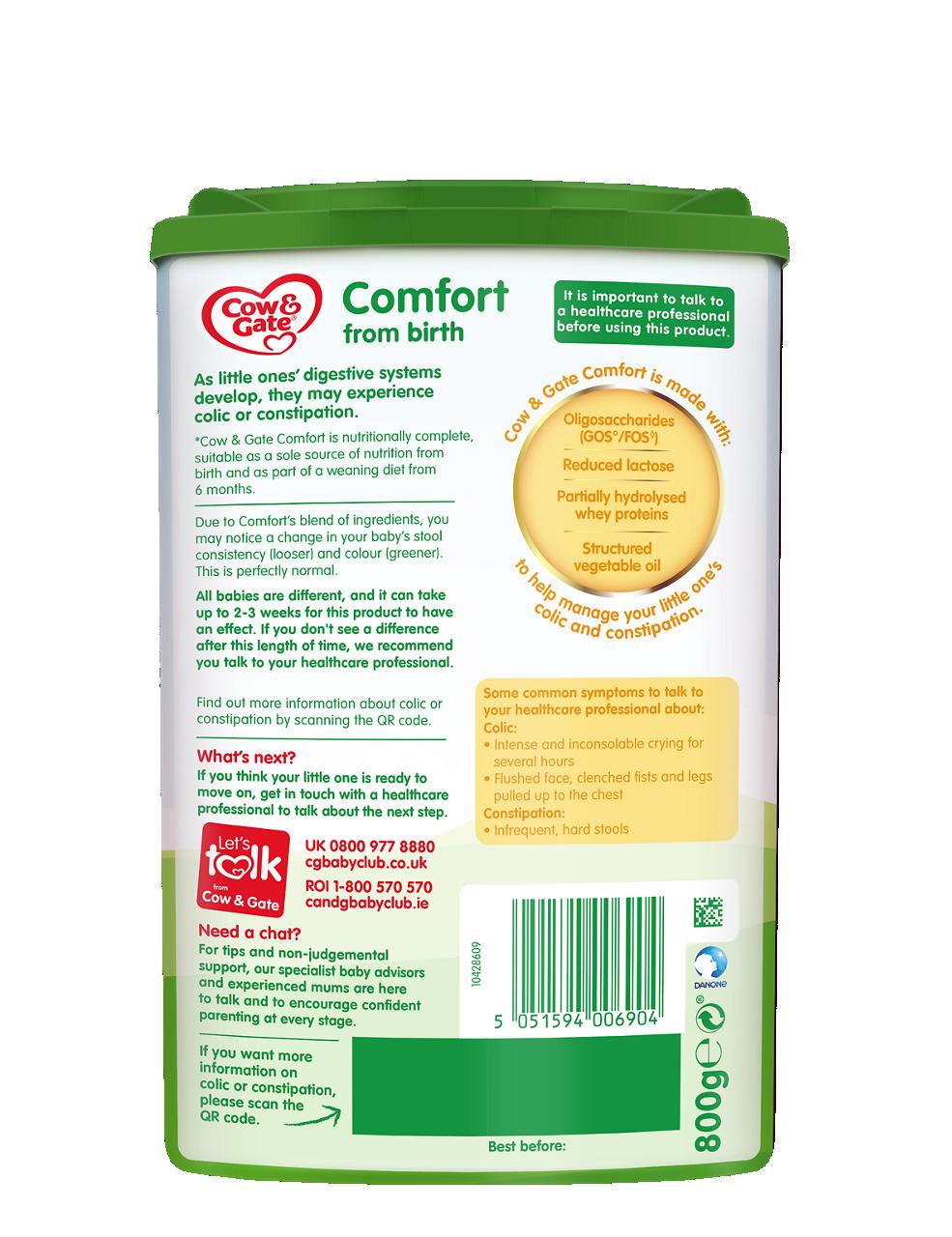 Comfort baby milk