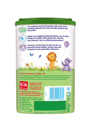 Cow & Gate Simply A2 Stage 3 Toddler Milk Powder 800g