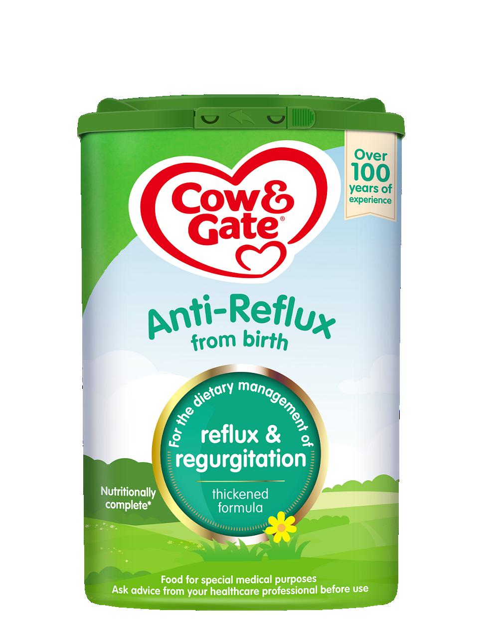 Anti-reflux baby milk