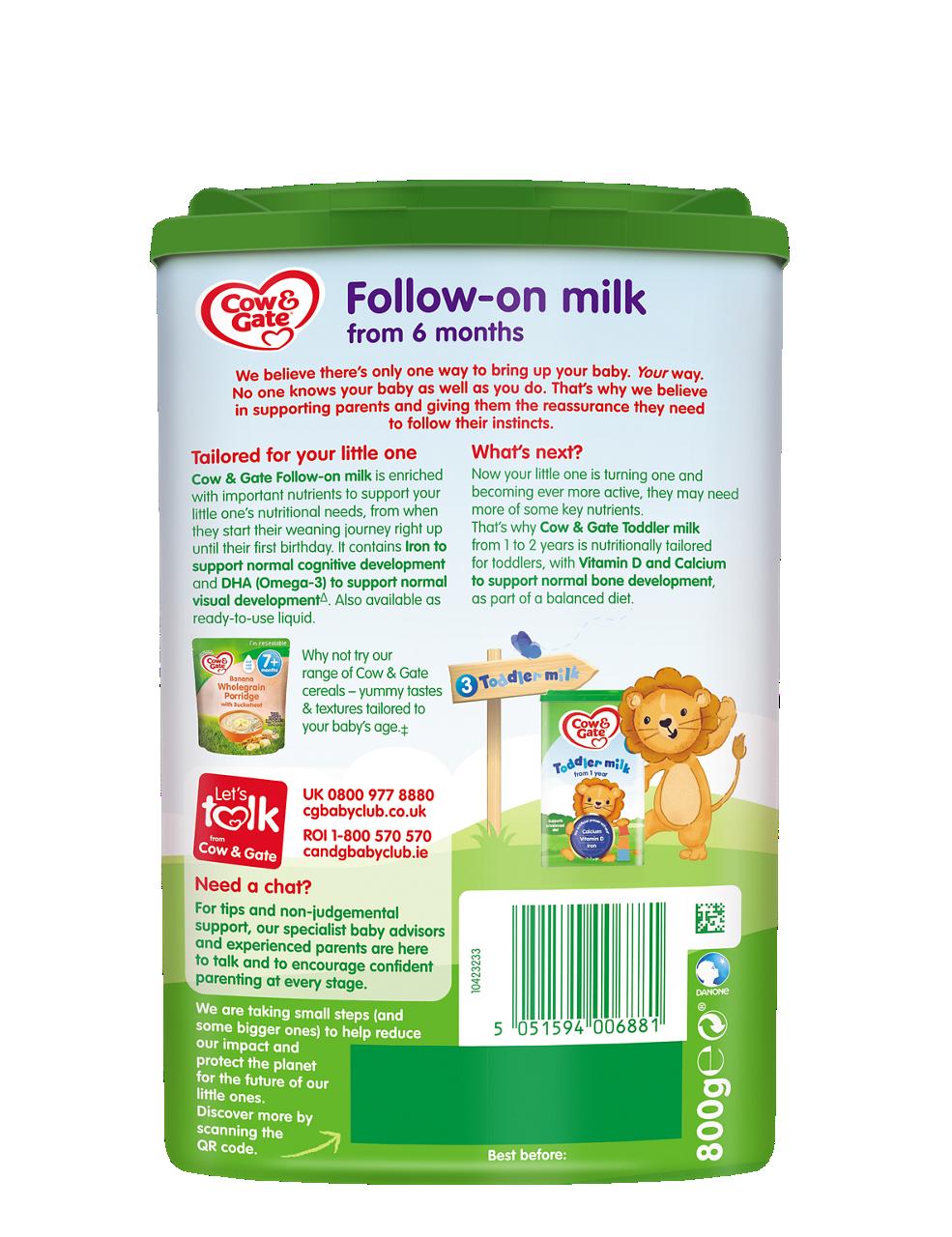 Follow-on milk