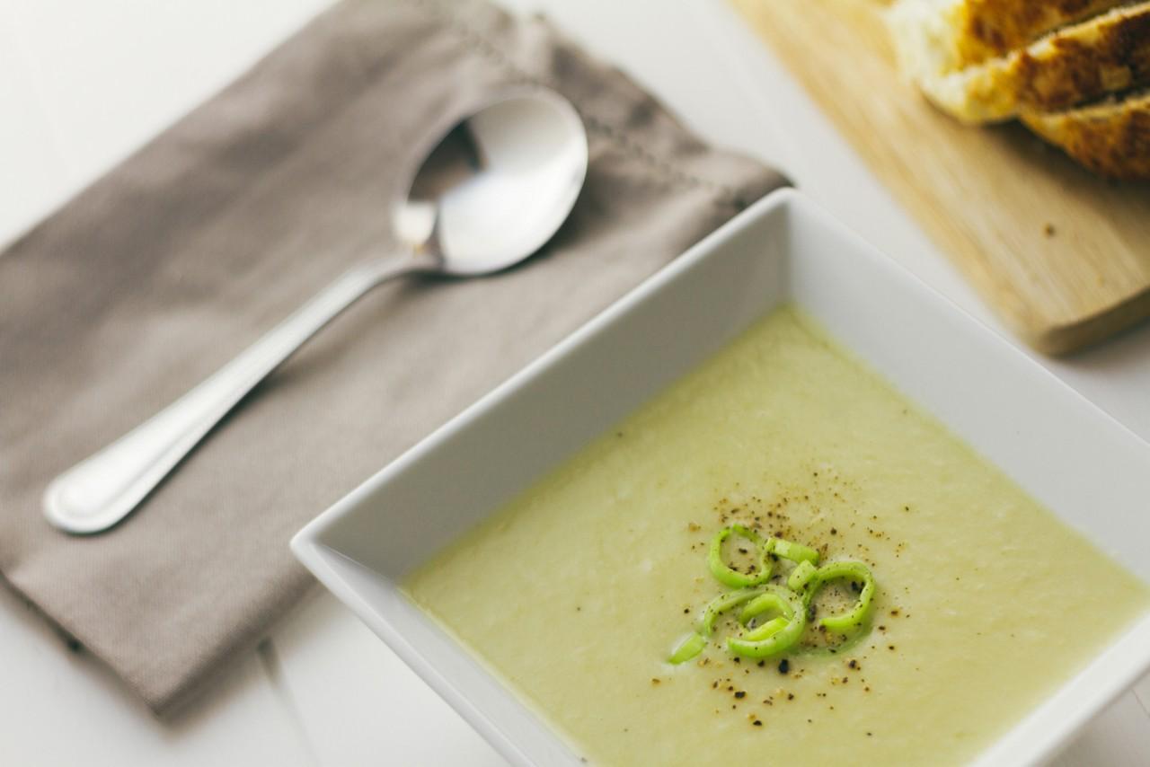 Leek and Potato Soup horizontal