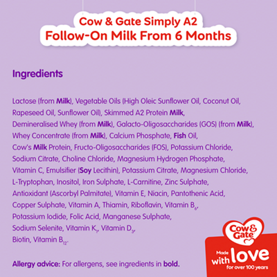 NEW Cow & Gate Simply A2 First Infant Milk