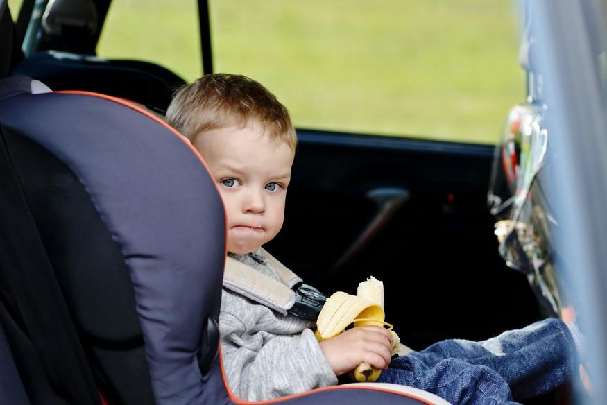 Toddler boy carseat banana